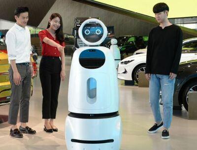 robot Cloi Guidebot es un robot que ha sido diseñado para vender coches en los concesionarios. Se trata de un robot social